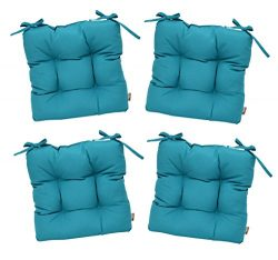 RSH Décor Set of 4 – Indoor/Outdoor Sunbrella Canvas Aruba Blue/Green / Turquoise/Aqua Tuf ...