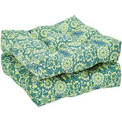 AmazonBasics Round Seat Patio Cushion, Set of 2 – Blue Floral