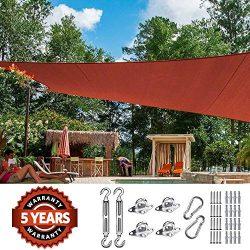 Quictent 26 X 20 ft 185G HDPE Rectangle Sun Shade Sail Canopy 98% UV Block Outdoor Patio Garden  ...