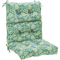 AmazonBasics High Back Chair Patio Cushion- Blue Floral