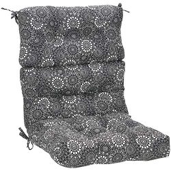 AmazonBasics High Back Chair Patio Cushion- Black Floral