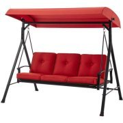 Mainstay Belden Park 3-Person Hammock Swing Color: Red Rust-Resistant Durable