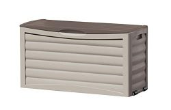 Suncast 63 Gallon Patio Storage Box – Waterproof Outdoor Storage Container for Patio Furni ...