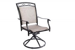 LUCKYBERRY 3 Piece Patio Bistro Table Set Swivel Rocking Chairs Patio Garden Backyard Outdoor Pa ...