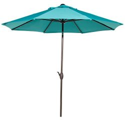 Abba Patio Outdoor Patio Umbrella 9 Feet Patio Market Table Umbrella with Push Button Tilt and C ...