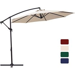 Patio Umbrella 10 ft Cantilever Offset Umbrella Outdoor Market Hanging Umbrellas Garden Umbrella ...