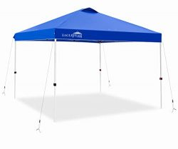 EAGLE PEAK 10' x 10′ Pop Up Canopy Tent Instant Outdoor Canopy Straight Leg Shelter with 1 ...