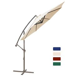 HASLE OUTFITTERS Offset Patio Umbrella 10FT Cantilever Umbrella Outdoor Market Umbrella Hanging  ...