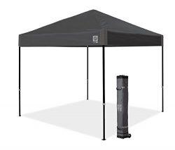 E-Z UP Ambassador Instant Shelter Canopy, 10 by 10′, Steel Gray