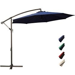 RUBEDER Offset Umbrella – 10Ft Cantilever Patio Hanging Umbrella,Outdoor Market Umbrellas ...