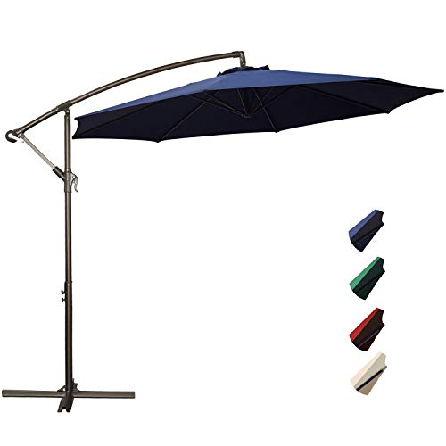 Rubeder Offset Umbrella 10ft Cantilever Patio Hanging