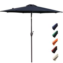 RUBEDER 9′ Patio Umbrella Outdoor Market Table Umbrella with 8 Sturdy Ribs,Wing Vent,Push  ...