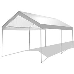 GYMAX Canopy, 10' x 20' Portable Carport Party Tent Garage Shelter with Waterproof, for Outdoor  ...