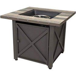 Endless Summer 30-in W 50000-BTU Brown Tabletop Steel Propane Gas Fire Table