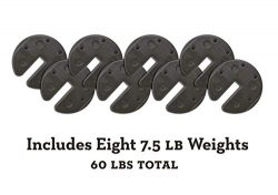 US Weight 30 lb. Tailgater Bundle (60 lb. Total) Canopy Weights with No-Pinch Design for Easy, S ...