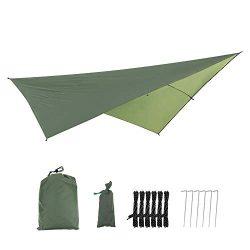 Hammock Rain Fly Tent Tarp, Portable Waterproof UV Protective Garden Screen Shelter Awnings, Gaz ...