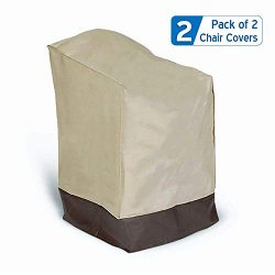 Prextex 2-Pack Classic Patio Lounge Chair Cover – 2 Patio Chair Covers