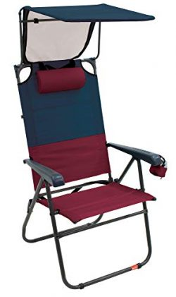 RIO Gear Hi-Boy 17″ Extended Seat Height Folding Aluminum Canopy Chair – Charcoal/Ox ...