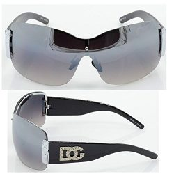 Womens DG Sunglasses Eyewear Designer Shades Color Large Size Black Silver dg857