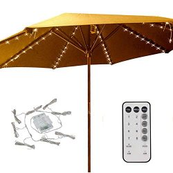 Patio Umbrella Lights 8 Lighting Mode 104 LED String Lights with Remote Control Umbrella Lights  ...