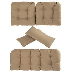 Art Leon Outdoor/Indoor Home Chair Seat Cushions 5 Pieces Seat and Back Cushion Set for Patio De ...