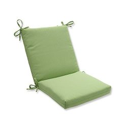 Pillow Perfect Outdoor/Indoor Tweed Squared Corners Chair Cushion, Lime