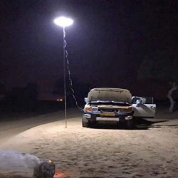 Beyonds Camping Lantern – Outdoor Telescopic COB Rod Camp Lamp LED Desert Prairie Camp Lig ...