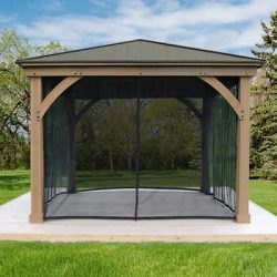 Gazebo Mosquito Mesh Kit for 12×14 Wood Gazebo