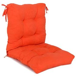 Giantex Patio High Back Chair Cushion Indoor/Outdoor, Wicker Loveseat Cushion Soft Tufted Pillow ...