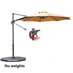 Le Papillon 10 ft Cantilever Umbrella Outdoor Offset Patio Umbrella Easy Open, Tilt & 360 Sw ...