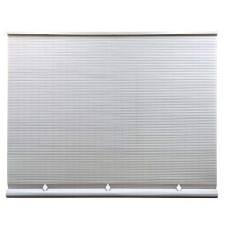 Lewis Hyman Cord Free 1/4 Inch Oval PVC Shade, White, 60 Inches x 72 Inches Roll Up Blind, 36 Inches