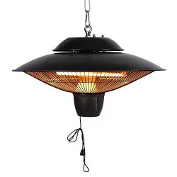 Star Patio Electric Patio Heater, Outdoor Ceiling Patio Heater, Black with Infrared Heating Elem ...