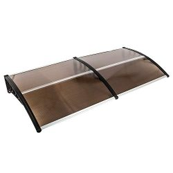 Goujxcy Window Door Awning,39″x 79″ Window Awning Overhead Door Polycarbonate Cover  ...