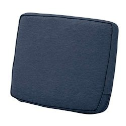 Classic Accessories Montlake Back Cushion Foam & Slip Cover, Heather Indigo, 25x22x4″  ...