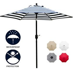 Sunnyglade 7.5′ Patio Umbrella Outdoor Table Market Umbrella with Push Button Tilt/Crank,  ...