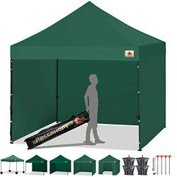 ABCCANOPY 8'x 8′ Ez Pop-up Canopy Tent Commercial Instant Tent with 4 Removable Side ...