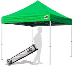 Eurmax 10'x10′ Ez Pop Up Canopy Tent Commercial Instant Canopies with Wheeled Bag (K ...