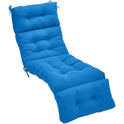AmazonBasics Lounger Patio Cushion Patio Cushion – Blue