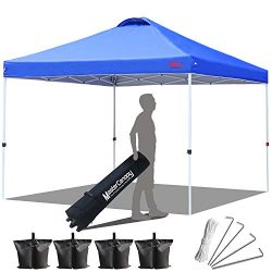 MASTERCANOPY Canopy 10×10 Compact Ez Pop up Canopy Portable Shade Instant Folding Better Ai ...