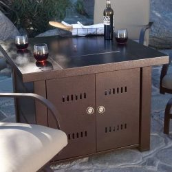 XtremepowerUS Outdoor Patio Heaters LPG Propane Fire Pit Table Garden Backyard Firepit Tabletop  ...