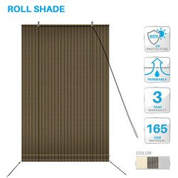 PATIO Paradise Roll up Shades Roller Shade 4'Wx6'H Outdoor Shade Blind Pull Shade Pr ...