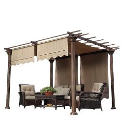 Garden Winds Universal Replacement Pergola Canopy Ii – Beige