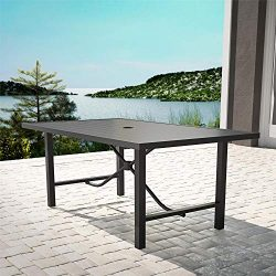 Cosco Outdoor Living 88682NBCE Cosco Outdoor Furniture Dining Table, Charcoal