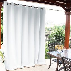NICETOWN Patio Indoor Outdoor Curtain – Slider Blinds Thermal Insulated Silver Grommet Roo ...