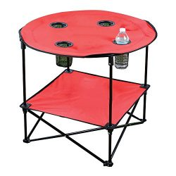 Portable Camping Side Table for Outdoor Picnic, Beach, Games, Camp, and Patio Tables Folding wit ...