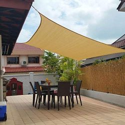 Jesasy Rectangle 10′ X 20′ Sun Shade Sail, UV Block Fabric Patio Sail Perfect for Ou ...