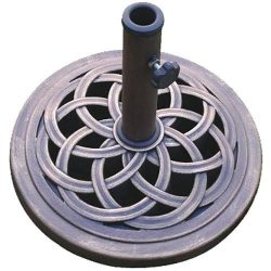 DC America UBP18181-BR 18-Inch Cast Stone Umbrella Base, Made from Rust Free Composite Materials ...