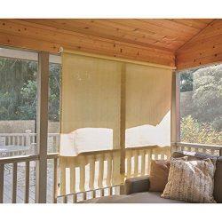 CASTLECREEK Sunscreen Roll-Up Window Shade, Sand, 8X6′