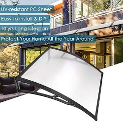 Yescom 39″x 39″ Door Window Outdoor Awning Patio Cover UV Rain Snow Protection One-P ...