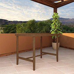 Cosco Outdoor Living 88467QDBE Cosco Outdoor Furniture Bar Table, Brown